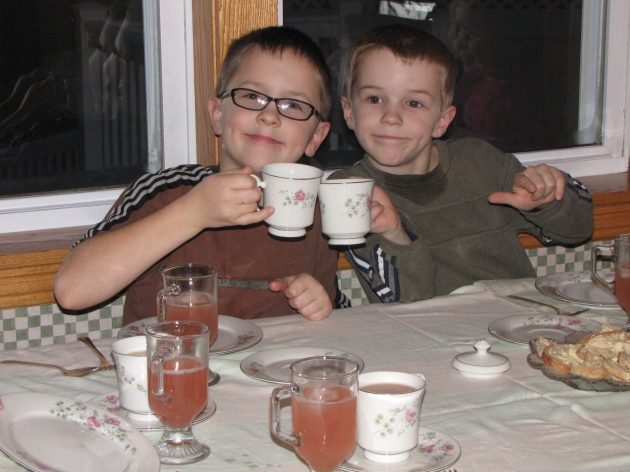 boys tea party