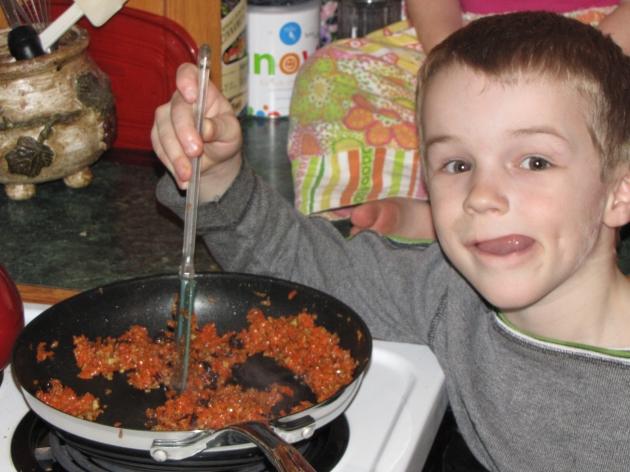 Greg cooking halva