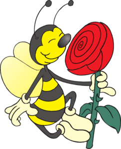 13173310491634410010Bee Smelling Flower.svg.med