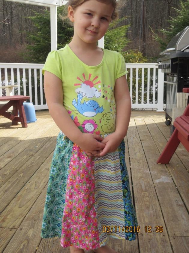 Addy in petal skirt