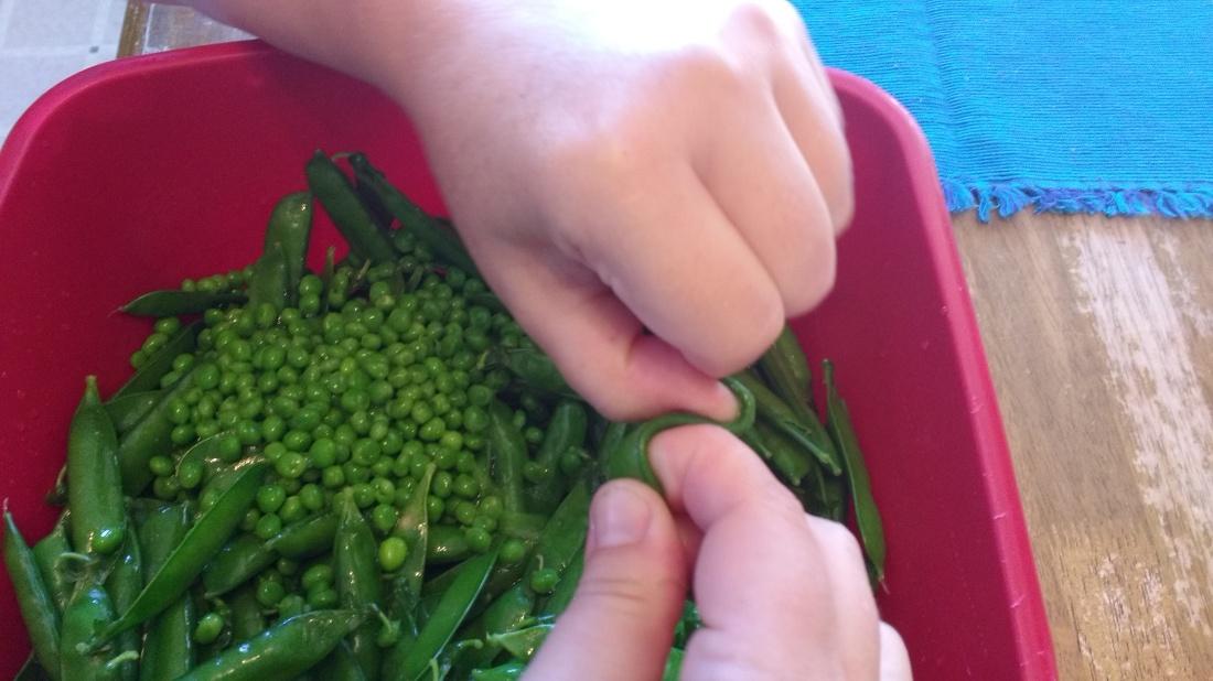 how to pop peas