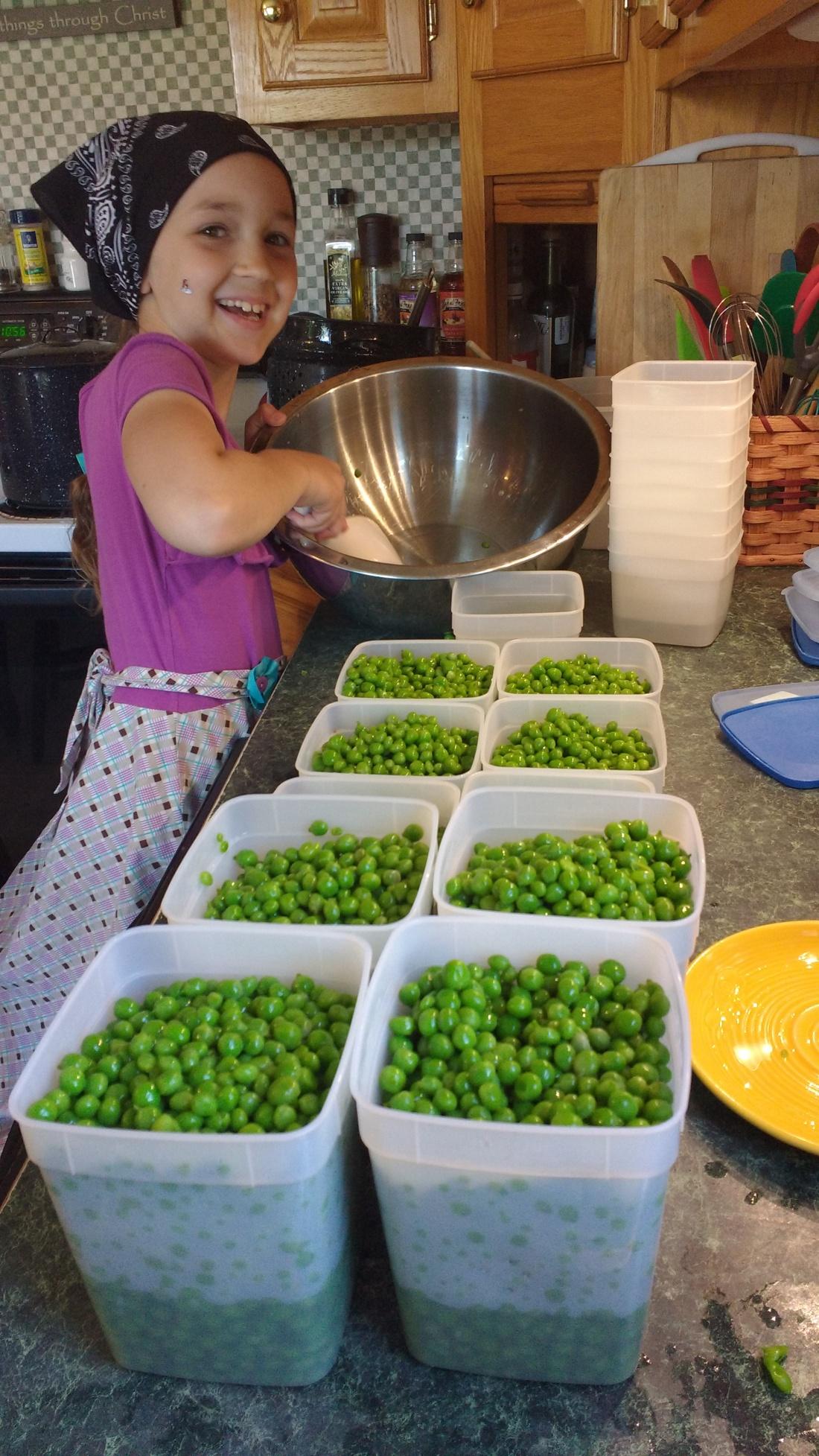Liv with peas