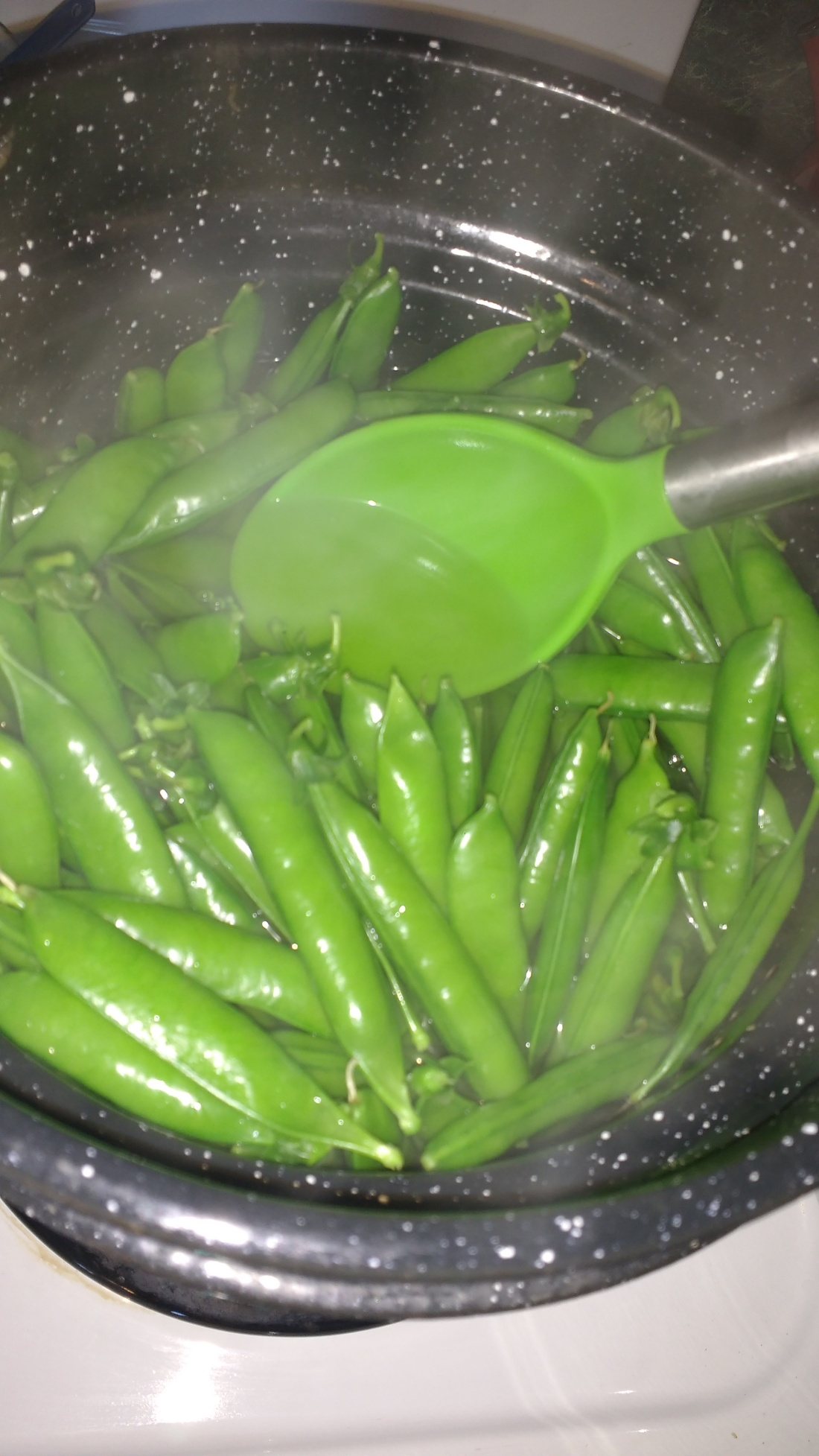 stir halfway through blanching