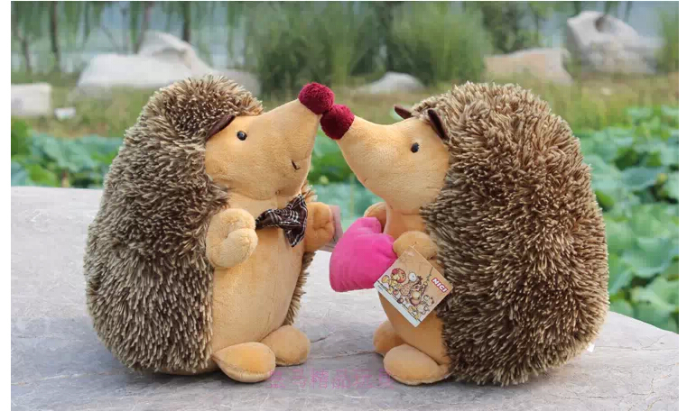 Super-cute-2pcs-a-pair-18cm-cartoon-mini-nici-sweet-lover-hedgehog-plush-hold-doll-hold